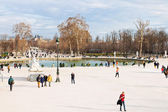Pond (Grand Basin Octagonal) in Tuileries Garden, Paris — Stock Photo
