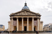 Utsikt över pantheon från place du pantheon i paris, paris — Stockfoto
