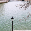 View of Seine River in Paris — Stockfoto