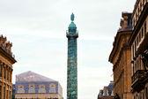 Vendome Column on Vendome square in Paris — Stock Photo