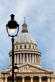 Urban lamp and Pantheon, Paris — Stock Photo
