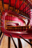 Spiral steps in old house — Stock Photo