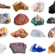 Set of rock minerals — Stock Photo