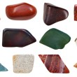 Set of jasper specimens — Stockfoto