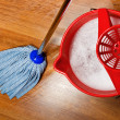 Mop and bucket with water for cleaning floors — Stock Photo