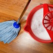 Stock Photo: Mop and bucket with water for cleaning floors