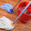 Stock Photo: Washing of wood floors