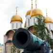 Tsar Cannon and Dormition Cathedral, Moscow — Stock Photo