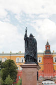 Monument of Germogen Russian Patriarch of Moscow and all Russia — Stock Photo