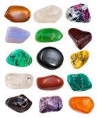 Set of semi-precious stones — Stock Photo