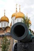 Zar el cañón y la dormición de la catedral, moscú — Foto de Stock