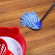 Stock Photo: Mopping of laminate floors