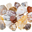 Stock Photo: Set of different stones