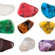 Set of semi-precious pebbles — Stock Photo