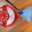Mop and bucket with water for washing floors — Stock Photo