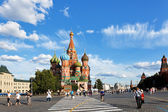 View of Pokrovsky cathedral on Red square — Stock fotografie