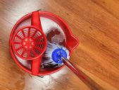 Top view of mop in bucket — Stock Photo