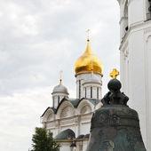 Golden cross on Tsar bell in Moscow Kremlin — Stock Photo