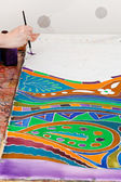 Painting of cold batik ornament — Stock Photo