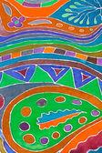 Painted pattern of batik — Stock Photo