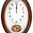 Midnight on oval wall clock — Stock Photo #29687475