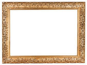 Ancient baroque wide golden picture frame — Stock Photo