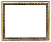 Gilded ancient narrow picture frame — Stock Photo