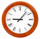 Six minutes past nine on round dial — Stock Photo