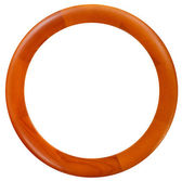 New round wooden picture frame — Stock Photo