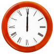 Set of wall clock with twelve o clock — Stock Photo