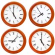 Set of wooden round wall clock face — Stock Photo #29724877