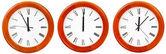 Set of wall clock with twelve o clock — Stock Photo