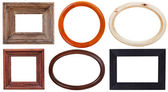 Set of wooden picture frame — Stock Photo