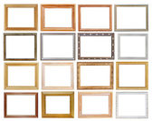 Set of wide picture frames — Stock Photo