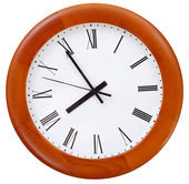 Wooden round wall clock — Stock Photo