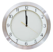 One minute to twelve o clock — Stock Photo