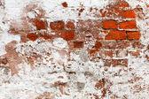 放棄された塗られたレンガ壁 — ストック写真