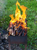 Tongues of flame on brazier — Stock Photo