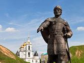 Prince Yury Dolgoruky Monument in Dmitrov, Russia — Stock Photo
