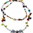 Necklace from mineral and figurines of Buddha — Stock Photo #32040053