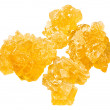 Stock Photo: Yellow crystalline caramelized sugar
