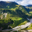 Aragvi river valley in Caucasus mountains — Stock Photo