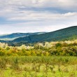 Panorama of caucasian mountains — Stock Photo