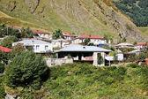 Case del villaggio di stepantsminda in georgia — Foto Stock