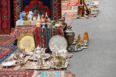 Street flea market in Yerevan — Stock Photo
