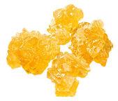 Yellow crystalline caramelized sugar — Stock Photo