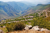 Panorama of village Halidzor in Armenia — Stock Photo