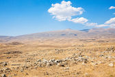 Plateau with Zorats Karer - monument in Armenia — Stock Photo