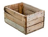 Caixa madeira vazia — Foto Stock