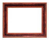 Geniş ahşap koyu kahverengi resim çerçevesi — Stok fotoğraf